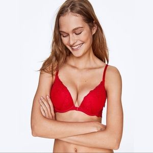 PINK Victoria Secret's Red Lace Date Bra